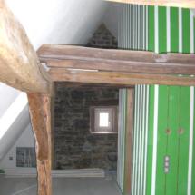 Dachgeschoss alt und modern