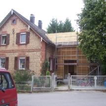 Anbau Holzrahmenbau mit Zellulose-Einblasdämmung