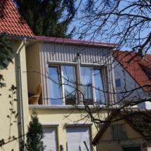 Anbau und Dachumdeckung