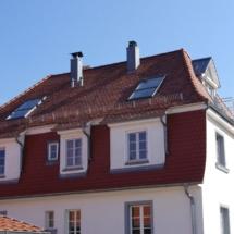 Dachumdeckung, Dachfenstereinbau, Zellulosedämmung, Innenausbau des Dachgeschosses