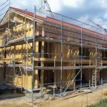 Doppelhaus Holzrahmenbau im Wärmedämm-Verbundsysthem mit Holzfaserweichplatten