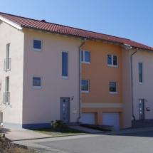 Doppelhaus Holzrahmenbau verputzt