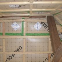 Zellulosedämmung Decke und Wand